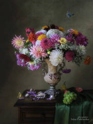 Floral still life in Baroque style