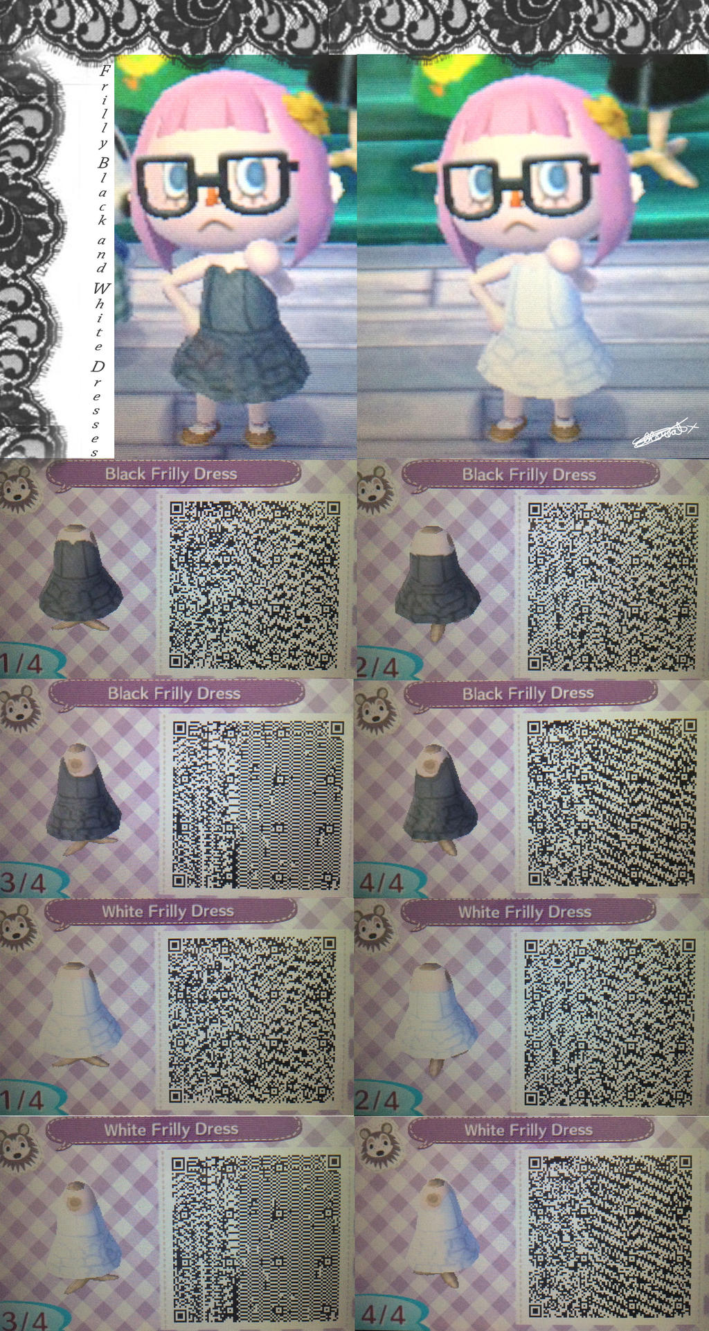 Black dress qr code - Megansayomi 5 0 Ac Nl Frilly Black And White Dresses Qr Code By Etherealx P