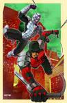 daredevil, spider-man, armor?