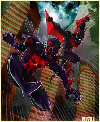batman beyond spider-man 2099 by m7781