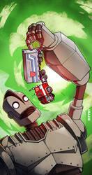 iron giant vs optimus prime by m7781