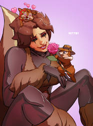 squirrel girl x rescue rangers by m7781