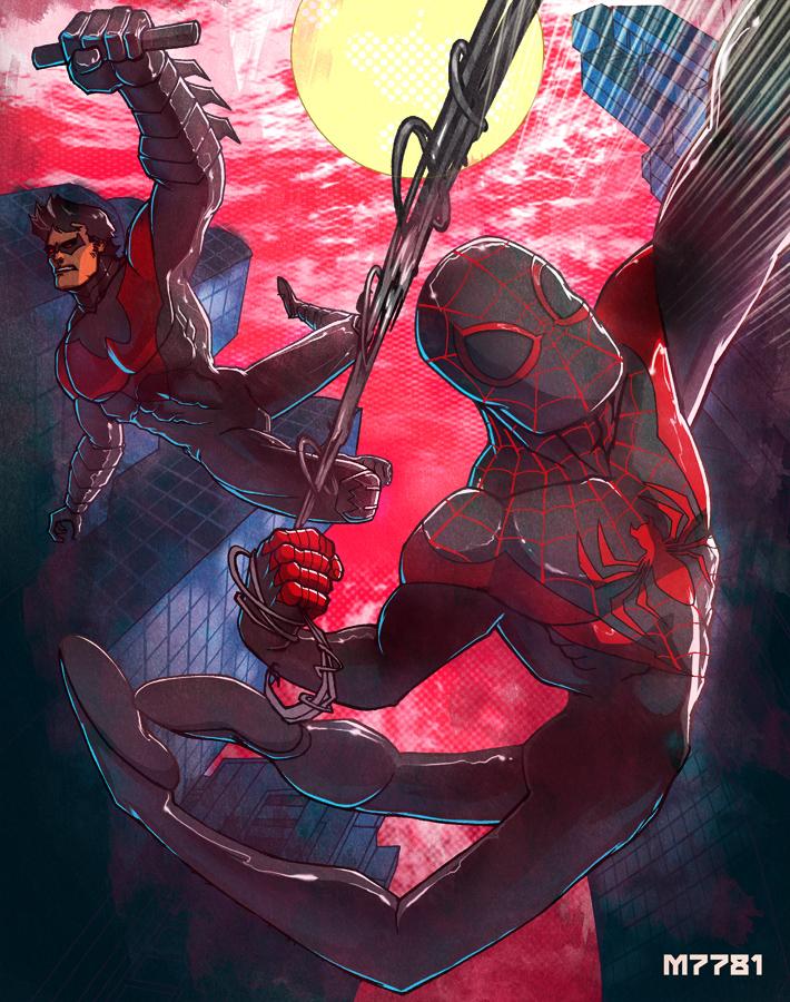 spider-man x nightwing by m7781