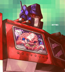 optimus prime x krang by m7781
