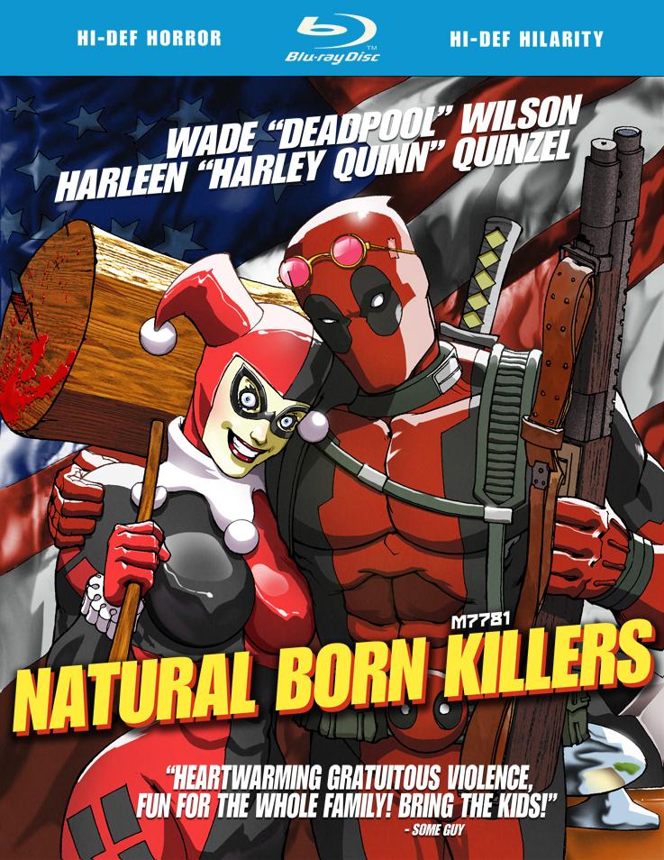 deadpool x harley quinn x natural born killers by m7781