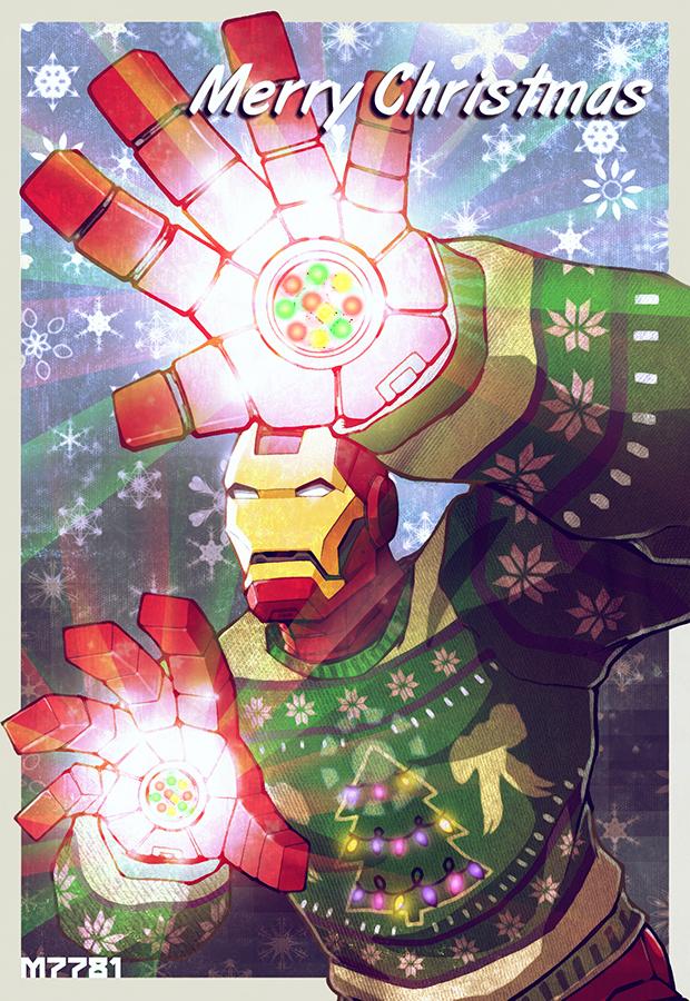 an iron man christmas