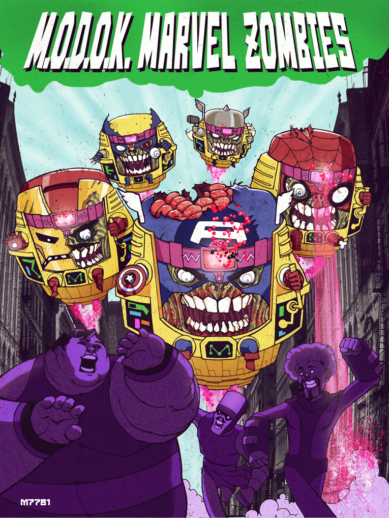 MODOK marvel zombies by m7781