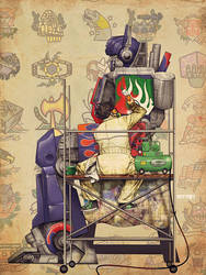 optimus prime x rockwell by m7781