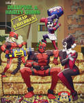 what if.. deadpool and harley quinn had kids?...