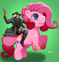 my little pony x jonah hex by m7781