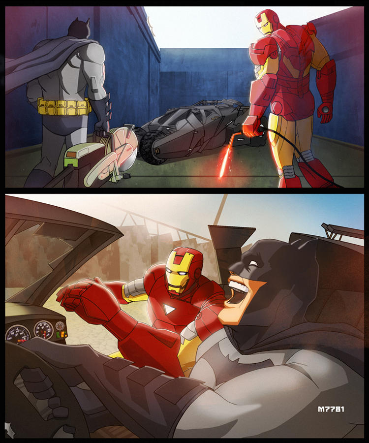 batman x iron man -OTIS