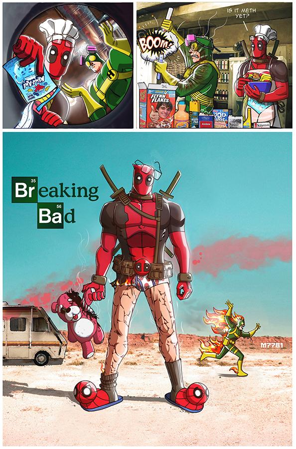 breaking bad x deadpool by m7781