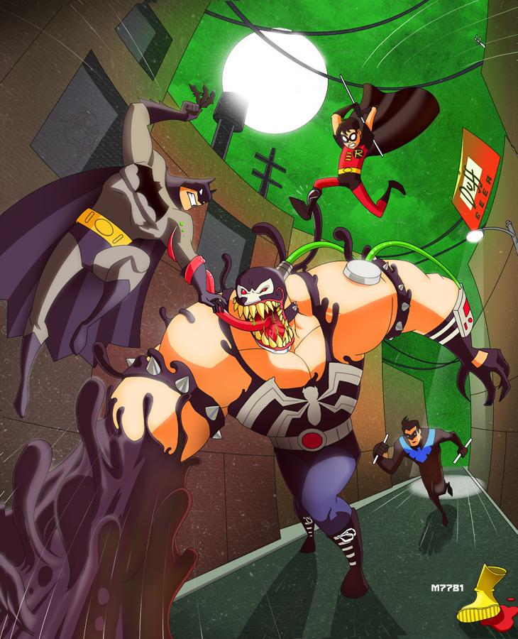 batman the animated series x venom by m7781
