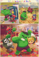 Adventures of Lil' Deadpool and Hulk by m7781