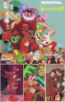 deadpool in wonderland by m7781