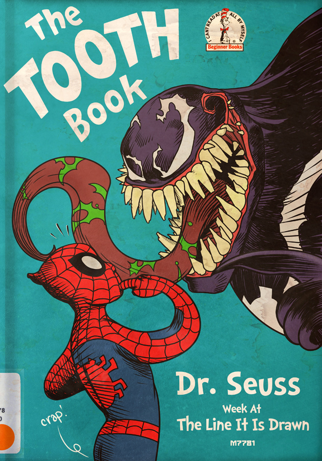 dr  seuss the tooth book x spider-man and venom by m7781 on