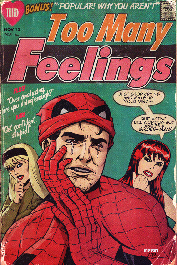 falling in love #119 x spider-man by m7781