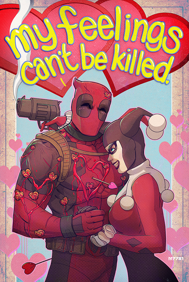 A Deadpool And Harley Quinn Valentine By M7781 ...