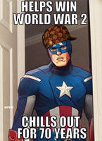 scumbag steve rogers by m7781