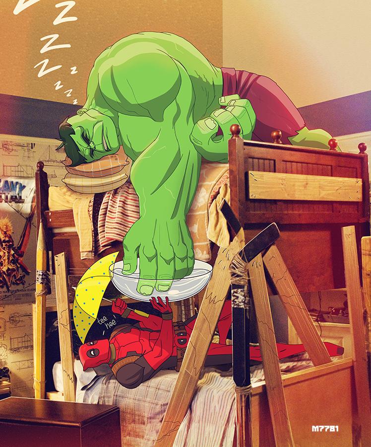 deadpool n' hulk by m7781