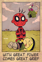 spider-man x charlie brown by m7781