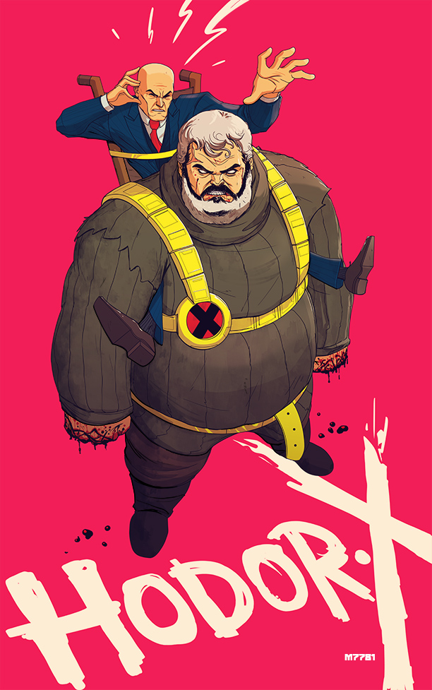 professor x hodor by m7781