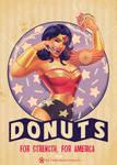 wonder woman x donuts