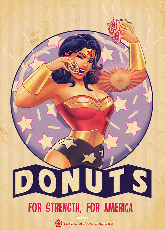 wonder woman x donuts by m7781
