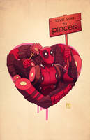 deadpool... love you to pieces by m7781