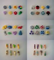 Pokemon Badges Clay