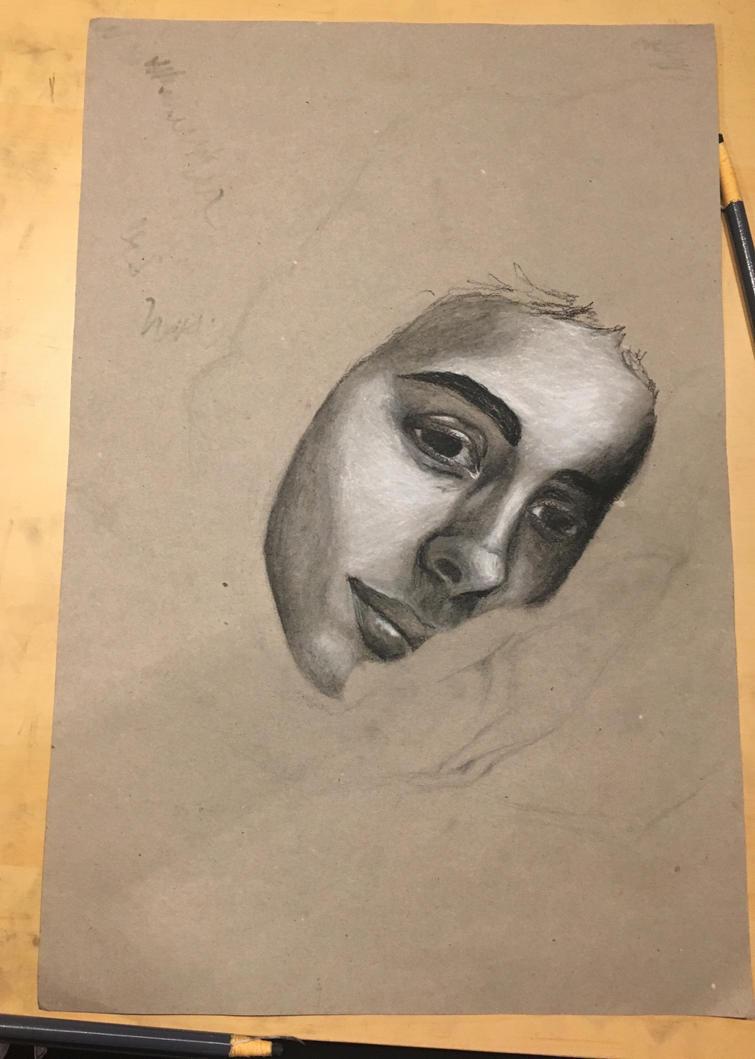 Old wip self portrait by sarling