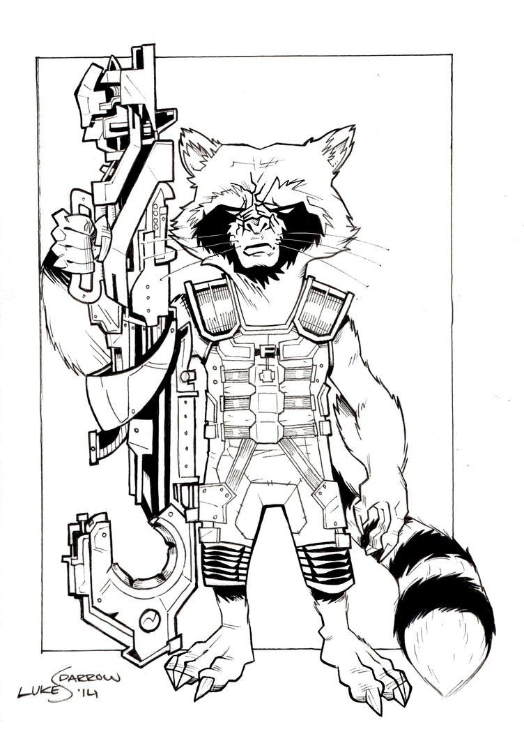 Star Lord And Rocket Raccoon By Timothygreenii On Deviantart: Rocket Raccoon By Lukesparrow On DeviantArt