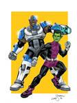 Cyborg and Beast Boy