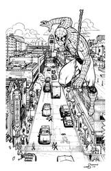 Ann Arbor Spider-Man Inks by lukesparrow