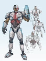 DCEU Cyborg Redesign by lukesparrow