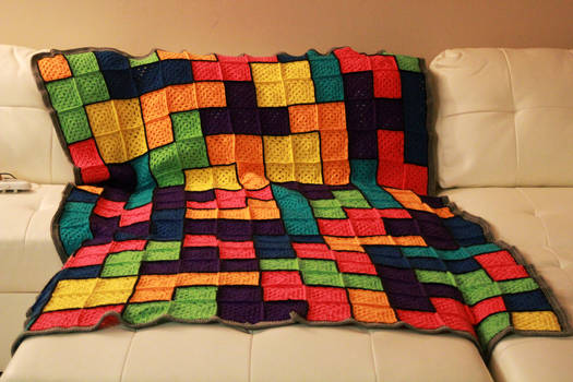Tetris blanket finished