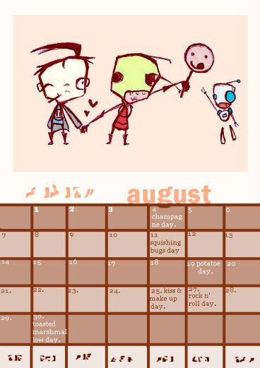 zadr august mini calendar by Z-A-D-R