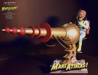 MARS ATTACKS - BIG GUN MARTIAN by joeytheberzerker