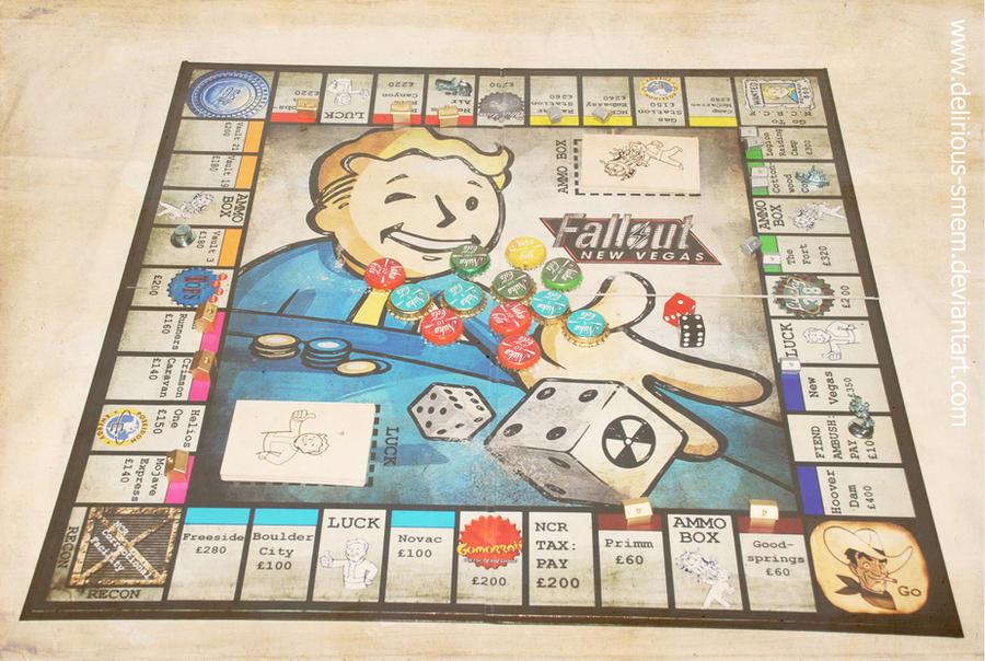 Fallout: New Vegas Monopoly by EmilyBrandDesigns on DeviantArt