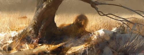 Resting Lion by kingkostas
