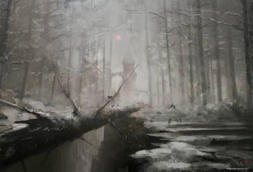 ForestRuins-Winter-kingkostas2017 by kingkostas