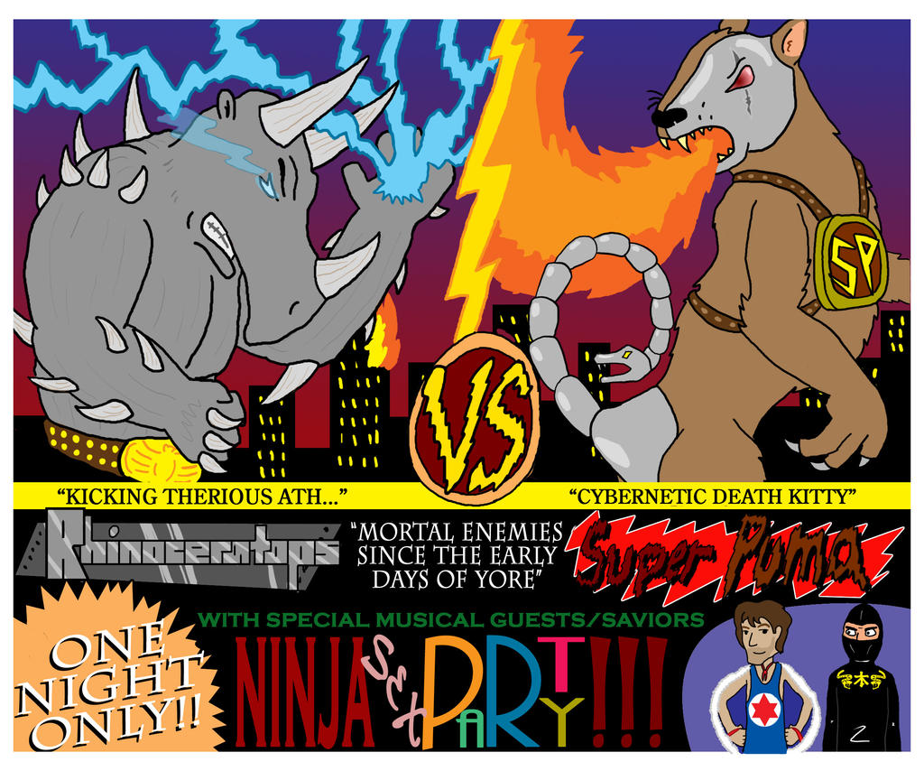 Rhinoceratops vs SUPER PUMA by LongSean22