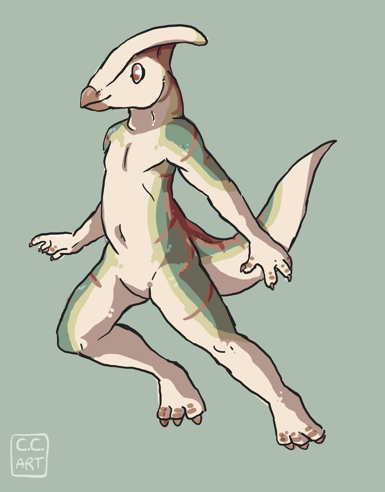 parasaurolophus by go-ccart