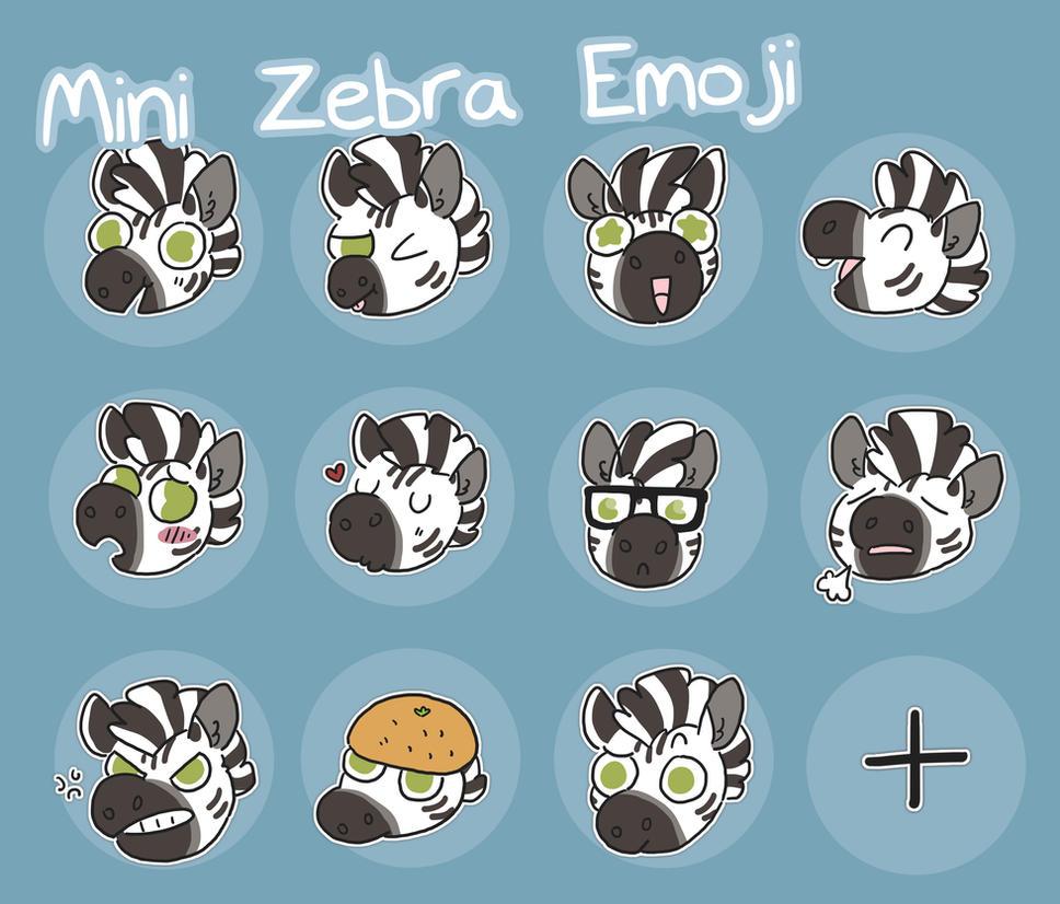 zebra emoji by ccartstuff