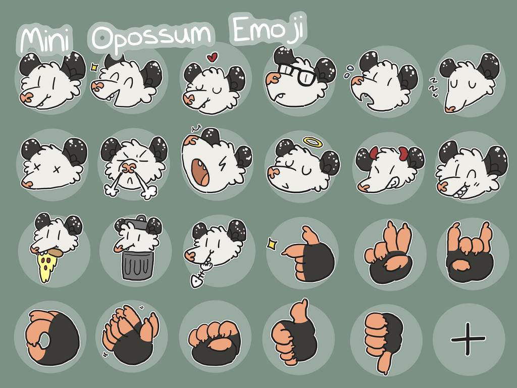 opossum telegram stickers by ccartstuff