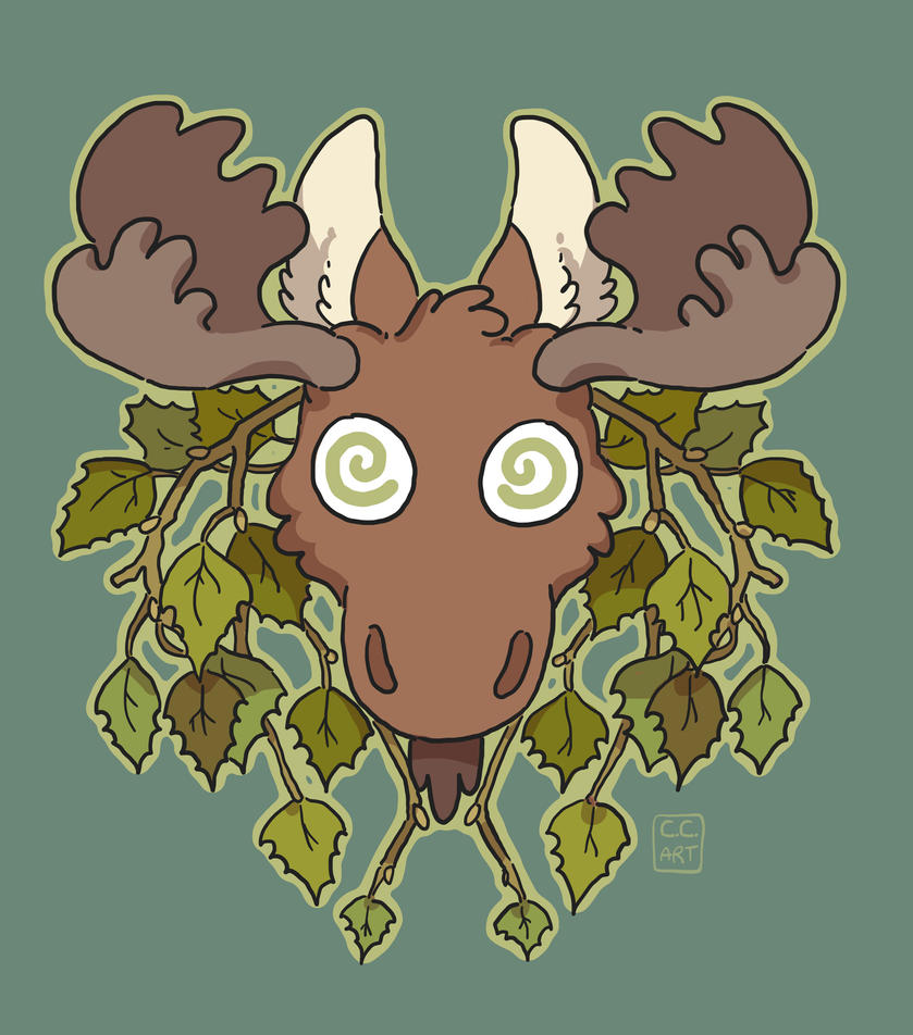 Moose Head by ccartstuff