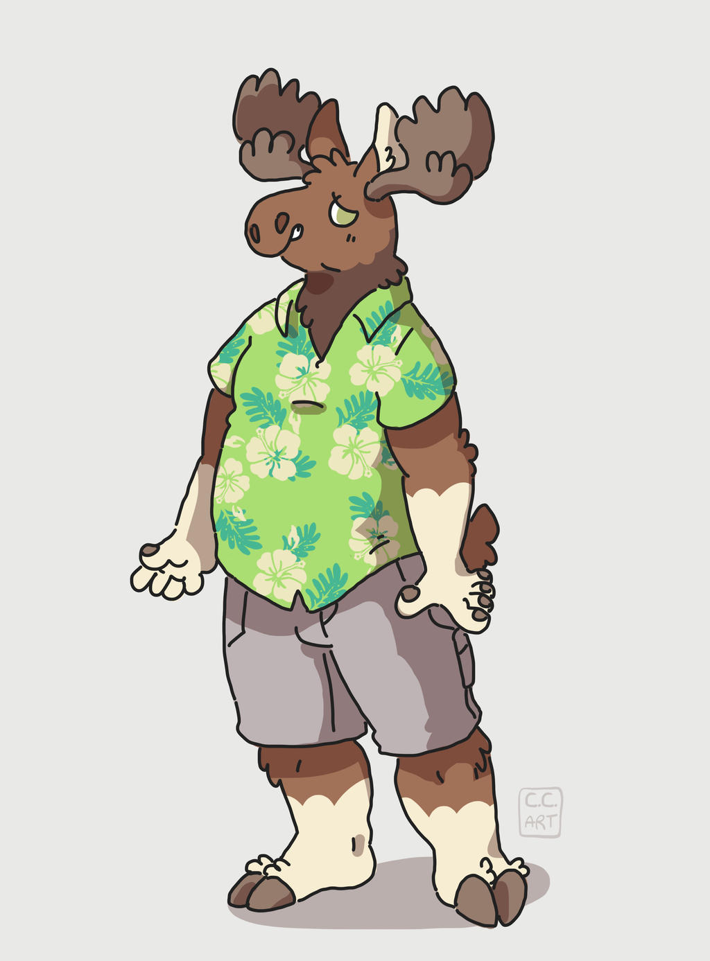 chunky moose by ccartstuff