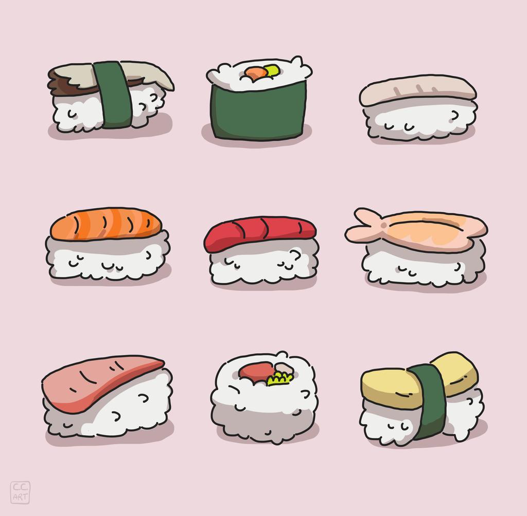 sushi by ccartdragon