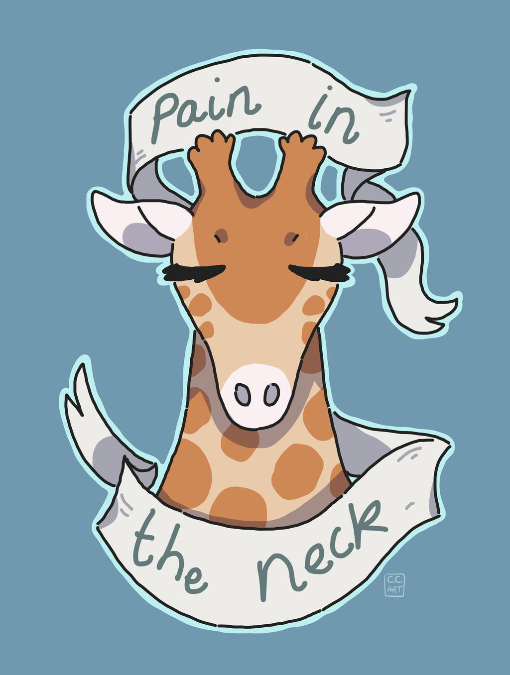 neck pain by ccartstuff