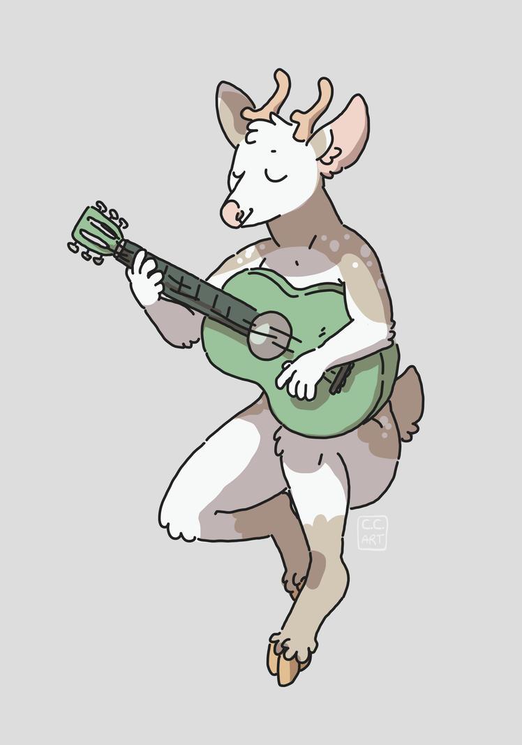musical deer by ccartstuff